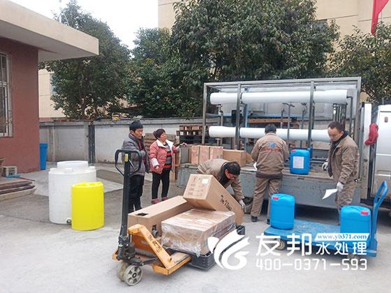 登封腐竹厂5吨纯净水设备用于食品行业!